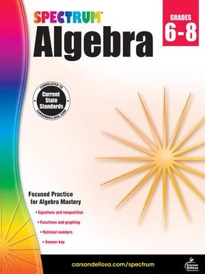 cover image of Spectrum Algebra