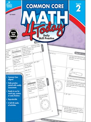cover image of Common Core Math 4 Today, Grade 2