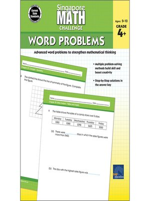 cover image of Singapore Math Challenge Word Problems, Grades 4--6