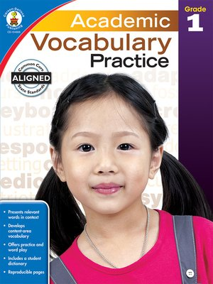 cover image of Academic Vocabulary Practice, Grade 1
