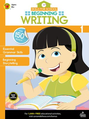cover image of Skills for School Beginning Writing, Grade 1