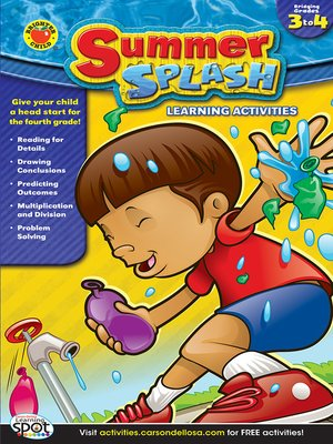cover image of Summer Splash Learning Activities, Grades 3 - 4