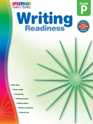 cover image of Writing Readiness, Grade PK