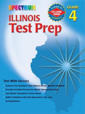 cover image of Illinois Test Prep, Grade 4