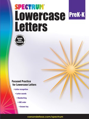 cover image of Lowercase Letters, Grades PK--K