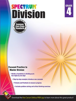 cover image of Division, Grade 4