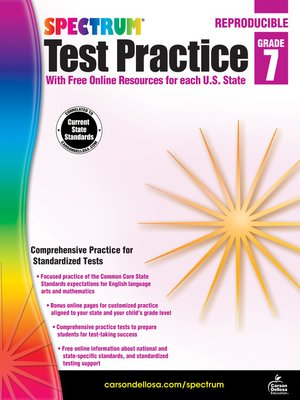 cover image of Spectrum Test Practice, Grade 7