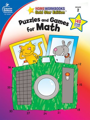 cover image of Puzzles and Games for Math, Grade 2