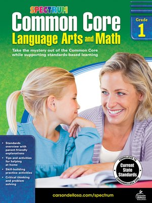 cover image of Common Core Language Arts and Math, Grade 1
