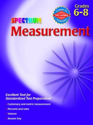 cover image of Measurement, Grades 6 - 8