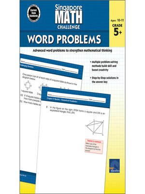 cover image of Singapore Math Challenge Word Problems, Grades 5--8