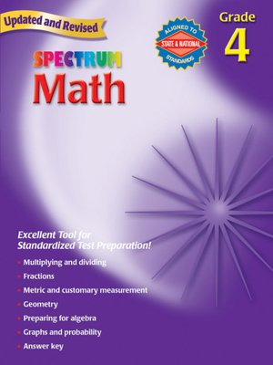 cover image of Spectrum Math, Grade 4