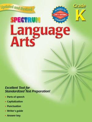 cover image of Language Arts, Grade K