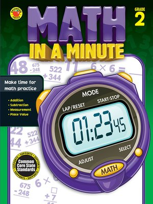cover image of Math in a Minute, Grade 2