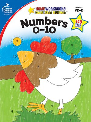 cover image of Numbers 0-10, Grades PK--K