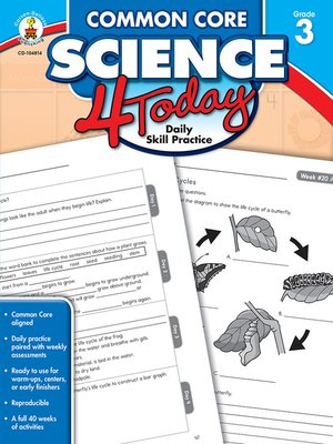 cover image of Common Core Science 4 Today, Grade 3