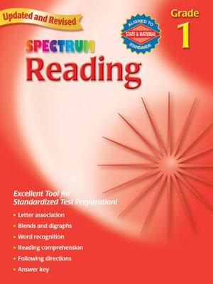 cover image of Spectrum Reading, Grade 1