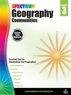 cover image of Spectrum Geography, Grade 3