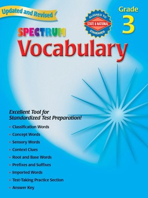 cover image of Vocabulary, Grade 3