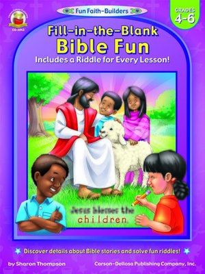 cover image of Fill-in-the-Blank Bible Fun, Grades 4--6