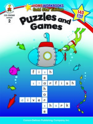 cover image of Puzzles and Games, Grade 2