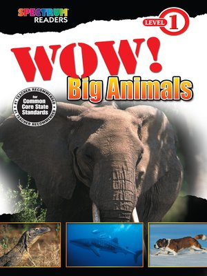 cover image of Wow! Big Animals