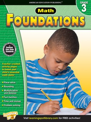 cover image of Math Foundations, Grade 3