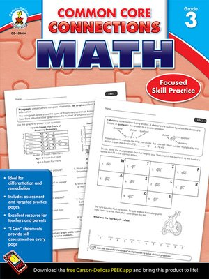 cover image of Common Core Connections Math, Grade 3