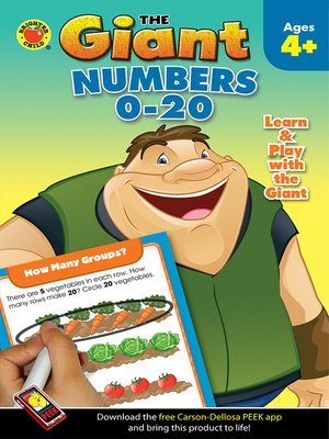cover image of Numbers 0 - 20 Activity Book, Grades PK - K