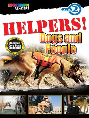 cover image of HELPERS! Dogs and People