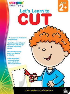 cover image of Let's Learn to Cut, Grades Toddler - PK