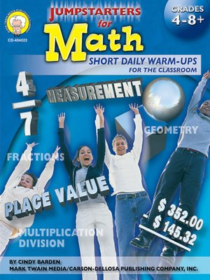 cover image of Jumpstarters for Math