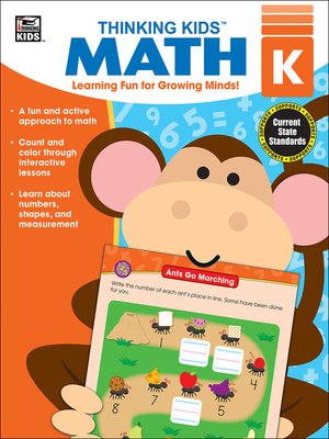 cover image of Thinking Kids' Math, Grade K