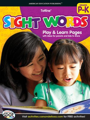cover image of Sight Words, Grades PK - K