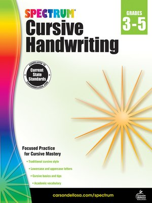 cover image of Spectrum Cursive Handwriting, Grades 3--5