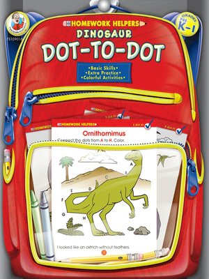 cover image of Dinosaur Dot-to-Dot, Grades PK--1
