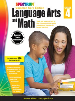 cover image of Spectrum Language Arts and Math, Grade 4