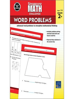 cover image of Singapore Math Challenge Word Problems, Grades 2--5