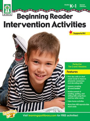 cover image of Beginning Reader Intervention Activities, Grades K - 1