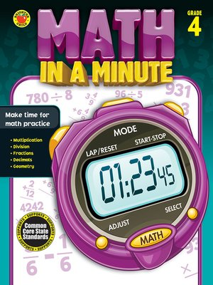 cover image of Math in a Minute, Grade 4