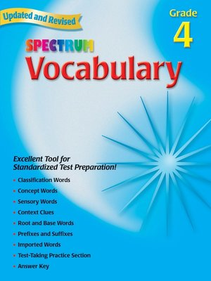 cover image of Vocabulary, Grade 4