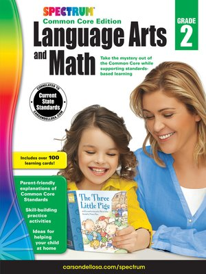 cover image of Spectrum Language Arts and Math, Grade 2