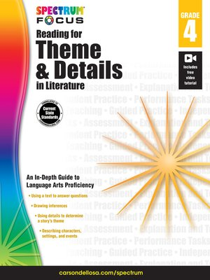 cover image of Spectrum Reading for Theme and Details in Literature, Grade 4