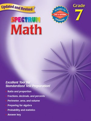 cover image of Spectrum Math, Grade 7