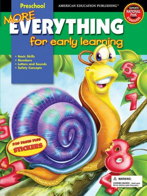 cover image of More Everything for Early Learning, Grade Preschool