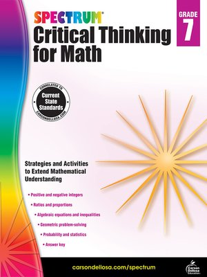 cover image of Spectrum Critical Thinking for Math, Grade 7