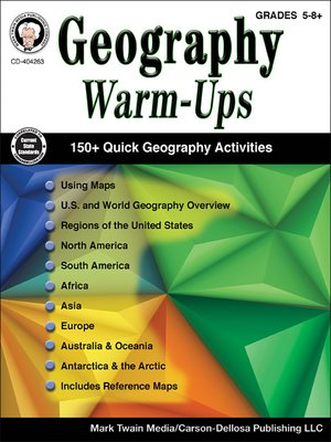 cover image of Geography Warm-Ups, Grades 5--8
