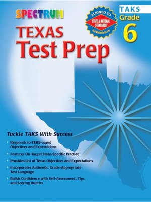 cover image of Texas Test Prep, Grade 6