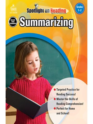 cover image of Summarizing, Grades 1 - 2