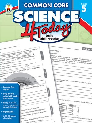 cover image of Common Core Science 4 Today, Grade 5